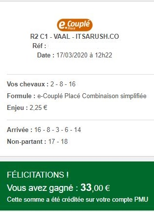 Preuve Ticket, ANNULATION DES COURSES
